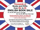 English BookSale on 29./30.10.2021