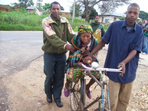 Transporting the patients to Ilembula Hospital