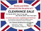 English Book Sale am 22./23. Februar 2019